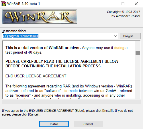 using winrar after trial period