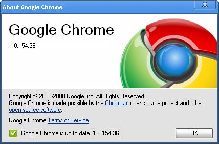 Télécharger Google Chrome 1 0 154 for - OldVersion com